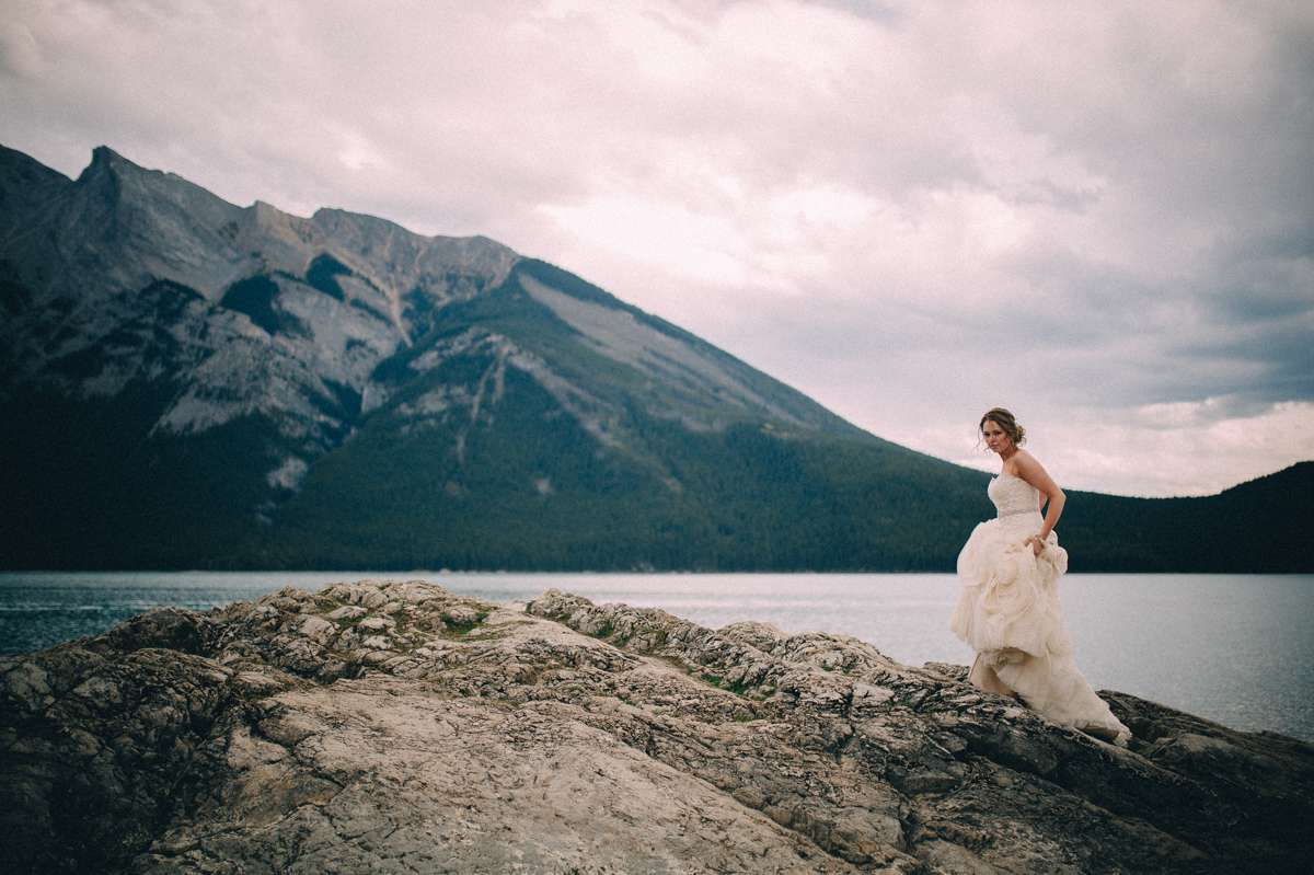 Lake Minnewanka Wedding Banff Photographer