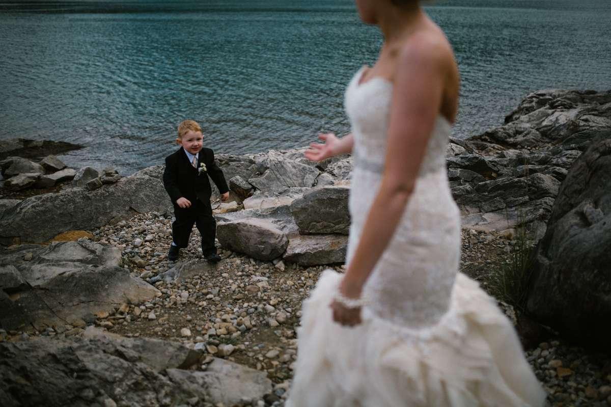 Lake Minnewanka Wedding Banff Photographer