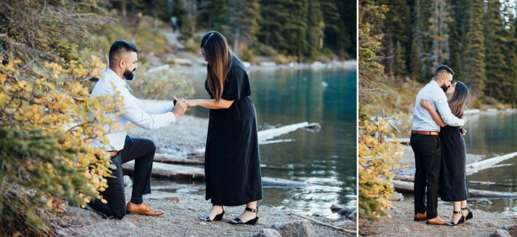 Moraine Lake Wedding Proposal