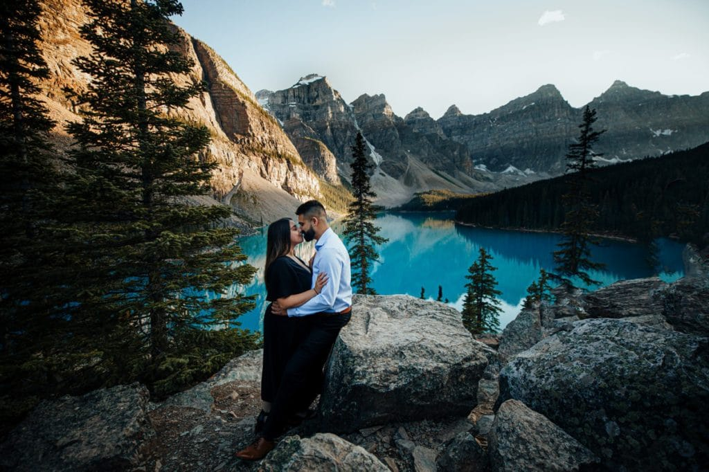 Engagement pictures near Banff