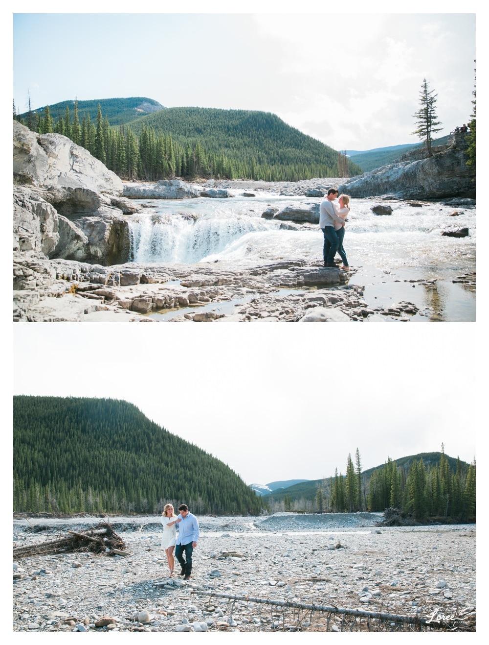 calgary mountain engagement photographer