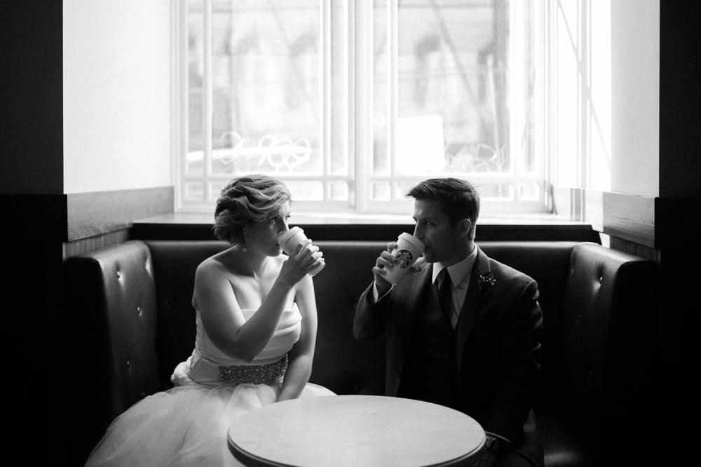 Starbucks wedding photos